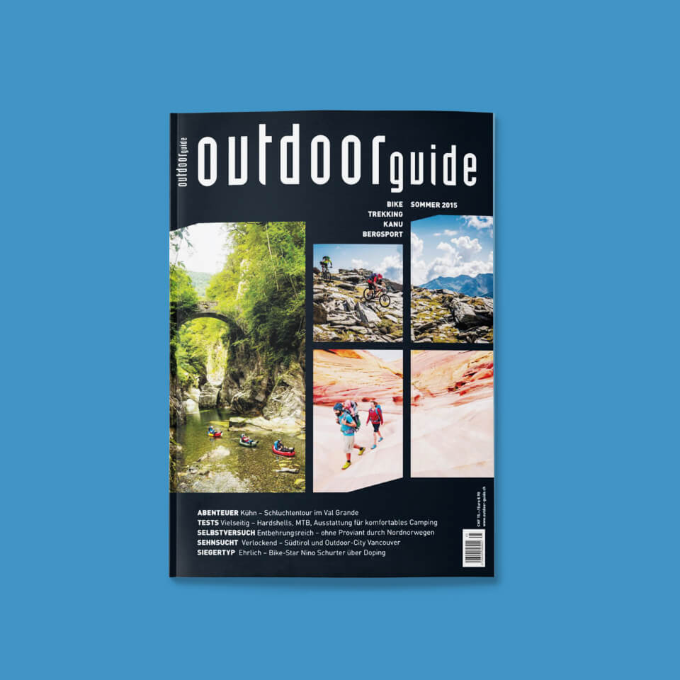Covershot of the old Outdoor Guide Magazine