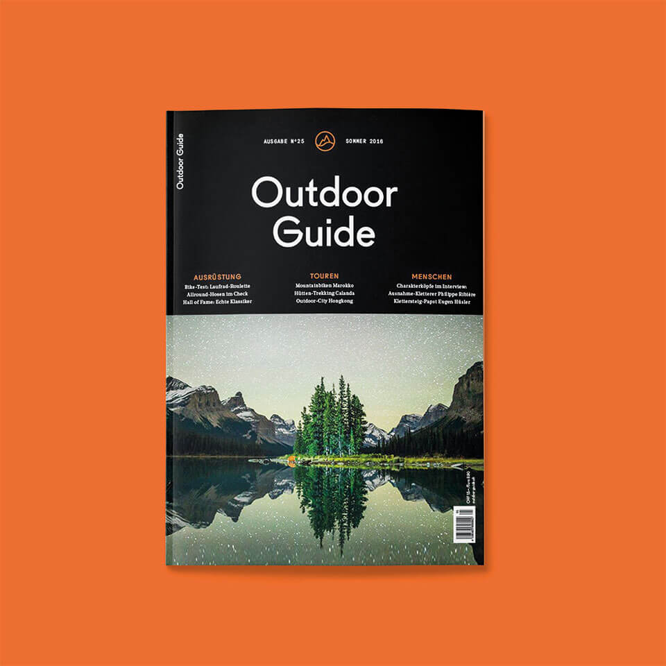 Cover of the Outdoor Guide Magazine