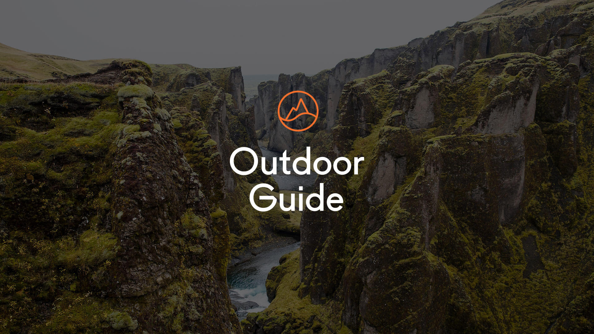 Outdoor Guide Logo on an Image of a Canyon