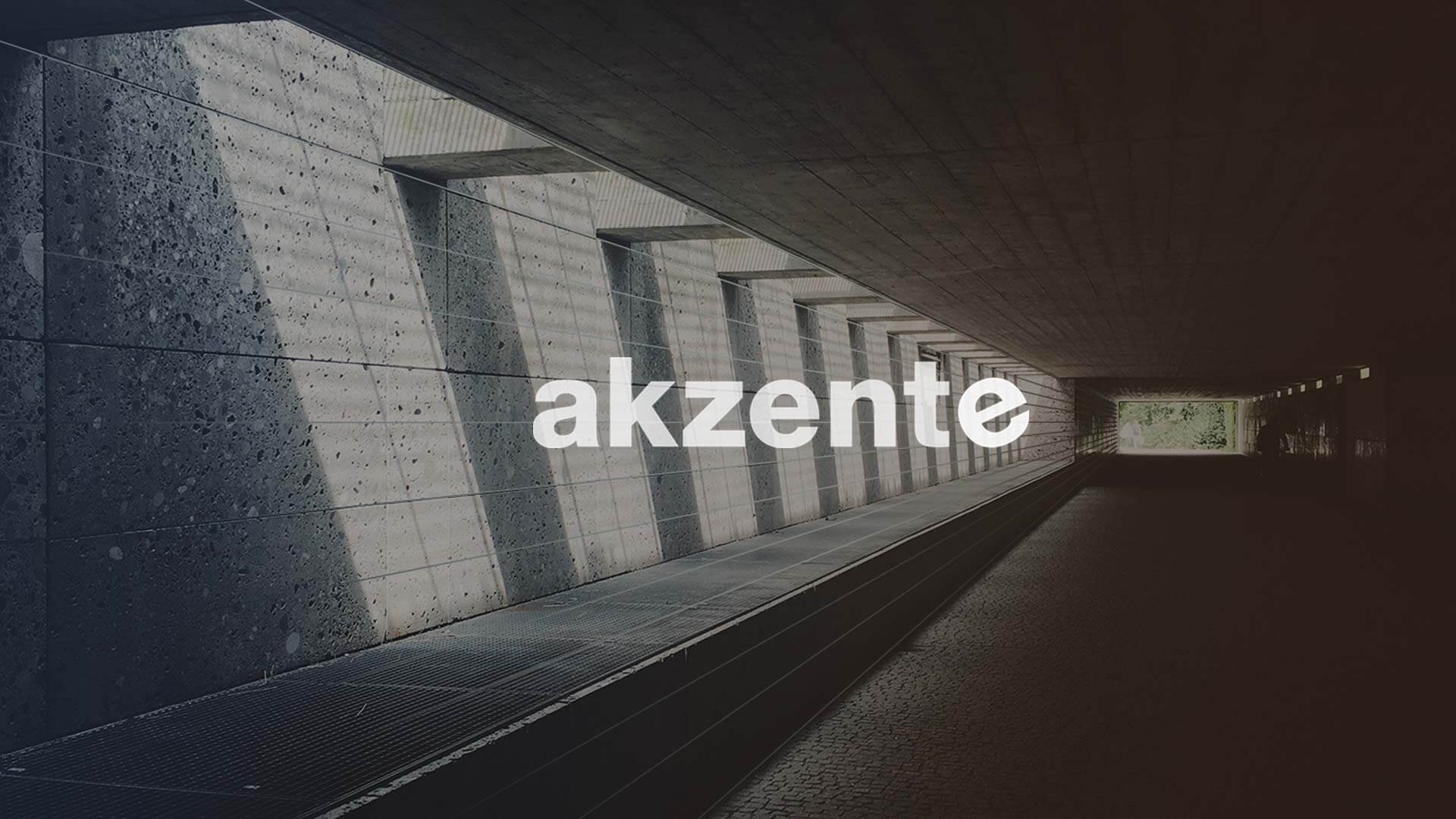 akzente Logo on a Photo of a Tunnel