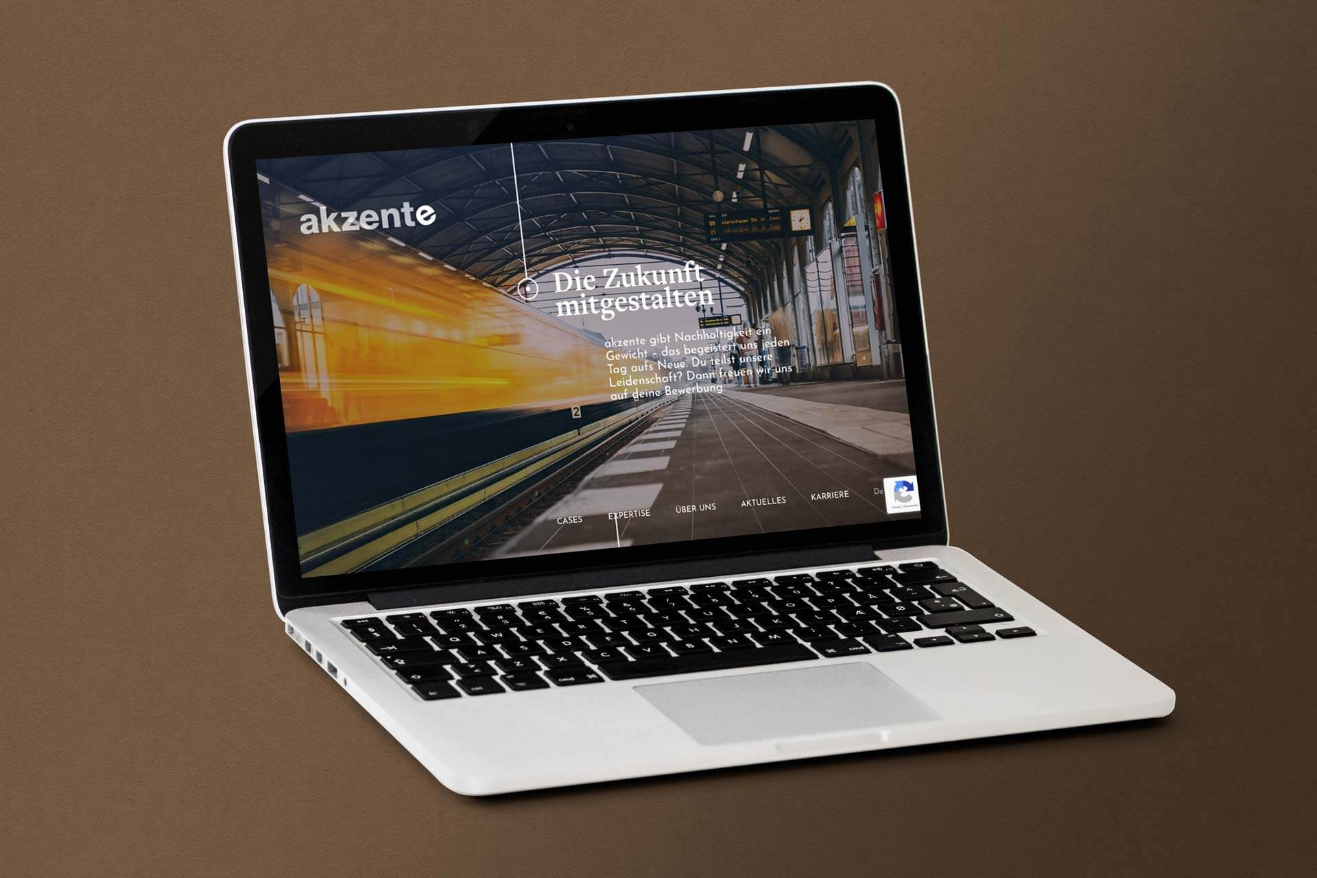 Mockup of the Career Page for akzente
