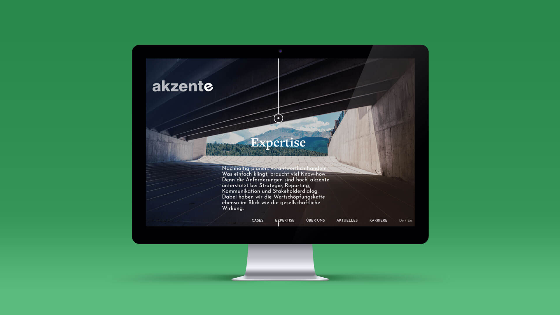 Mockup of the Expertise Page for akzente