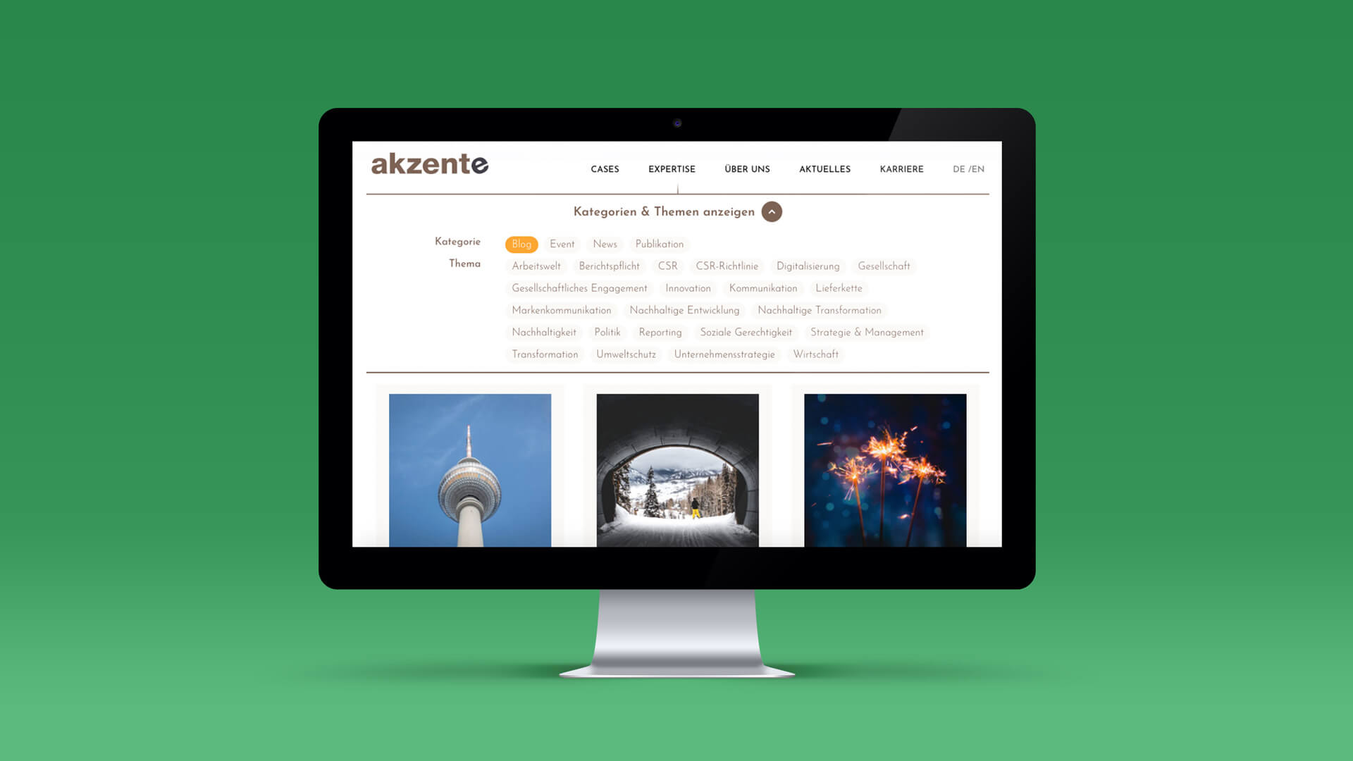 Mockup of the Blog Page for akzente