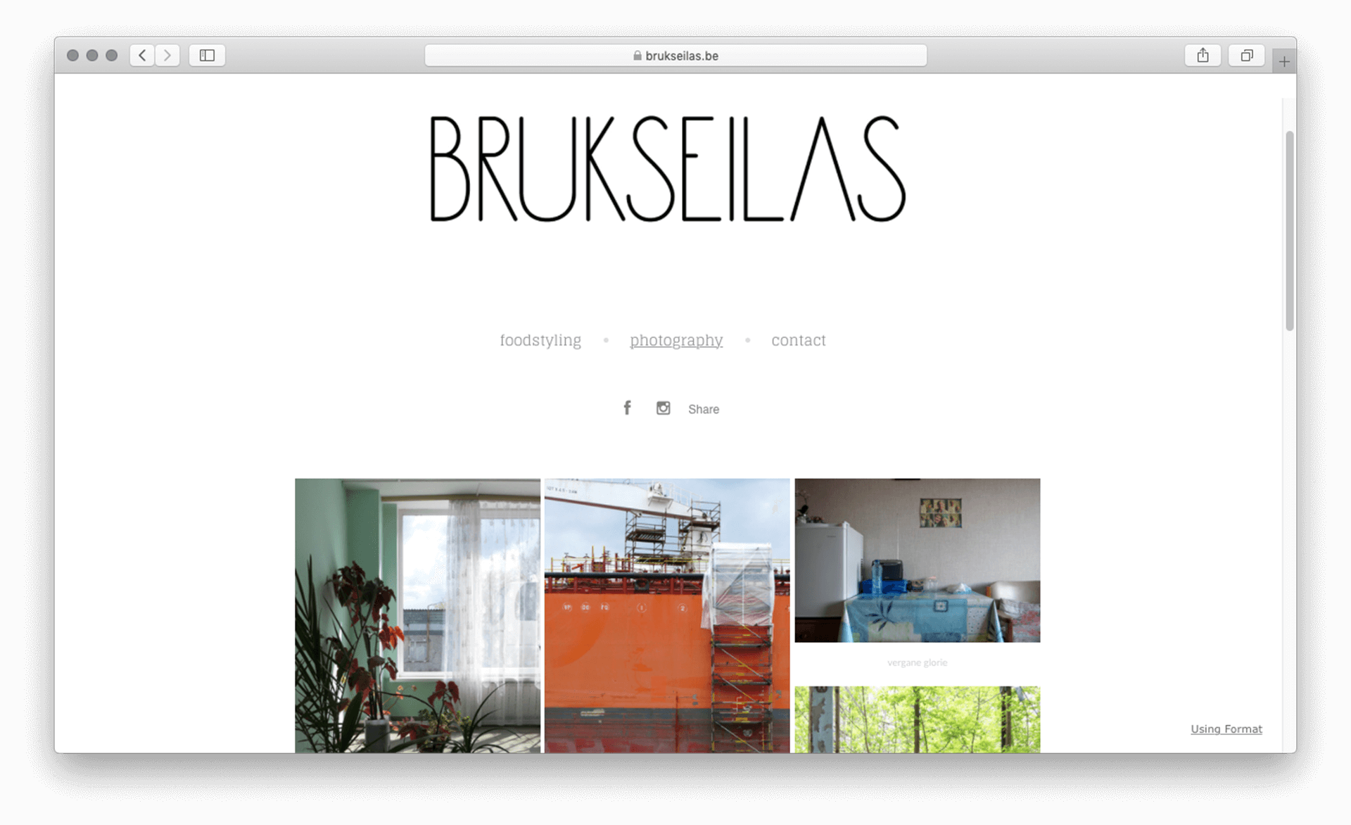 Screenshot of Webpage of Brukseilas