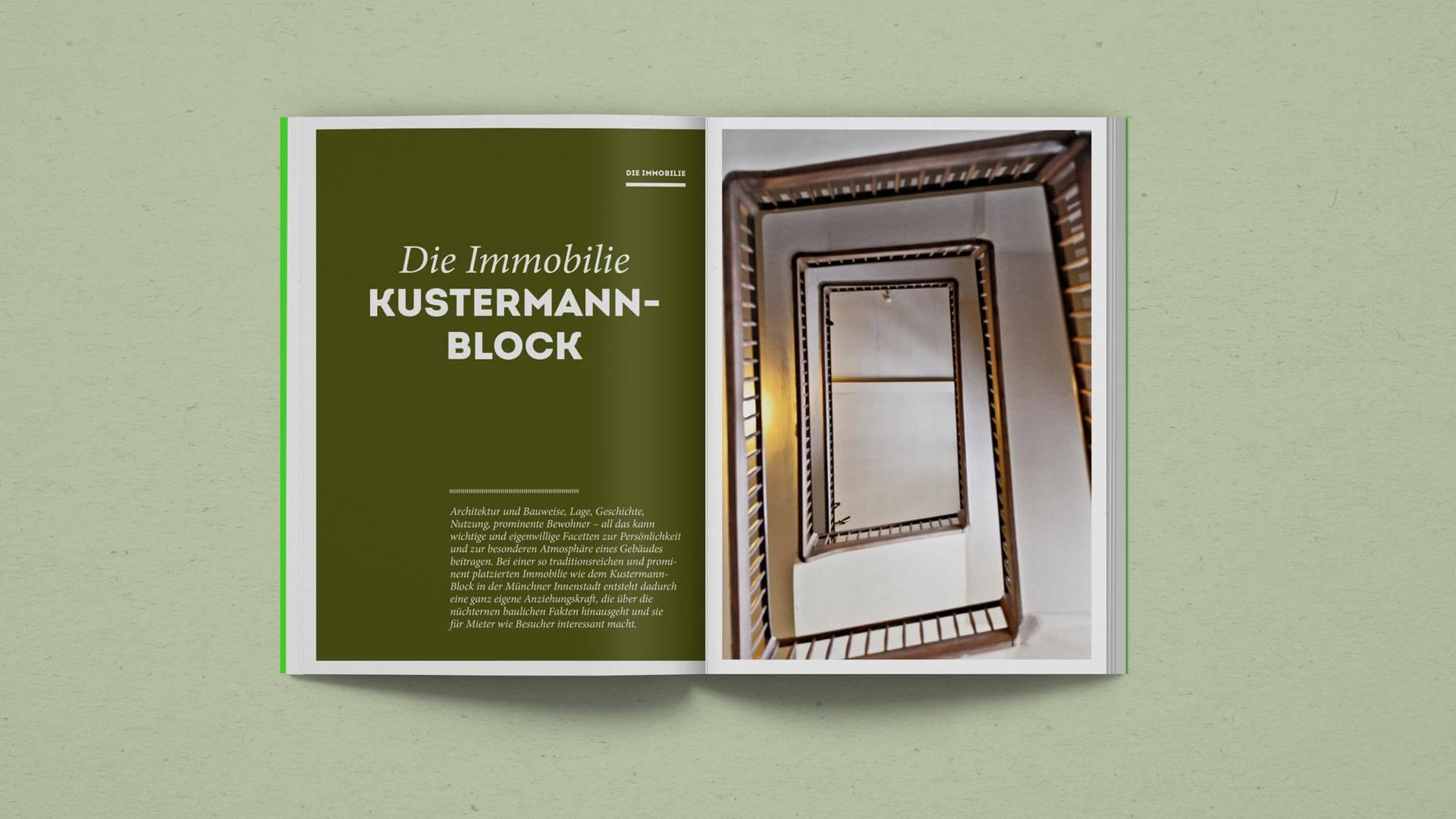Title Spread of the Property Chapter in the Kustermann Brochure
