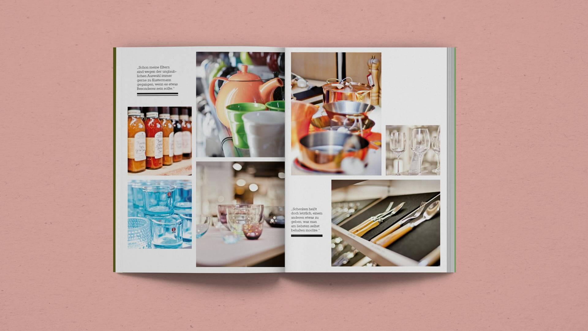 Spread full off Store Photographs in the Kustermann Brochure
