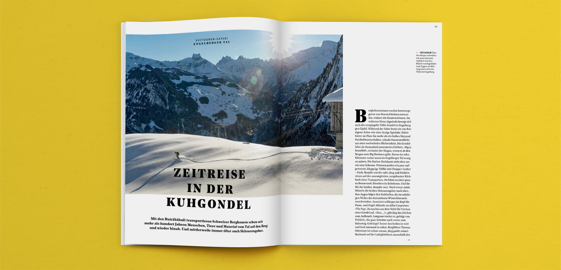 Fullsize Photography Spread in the Outdoor Guide Magazine