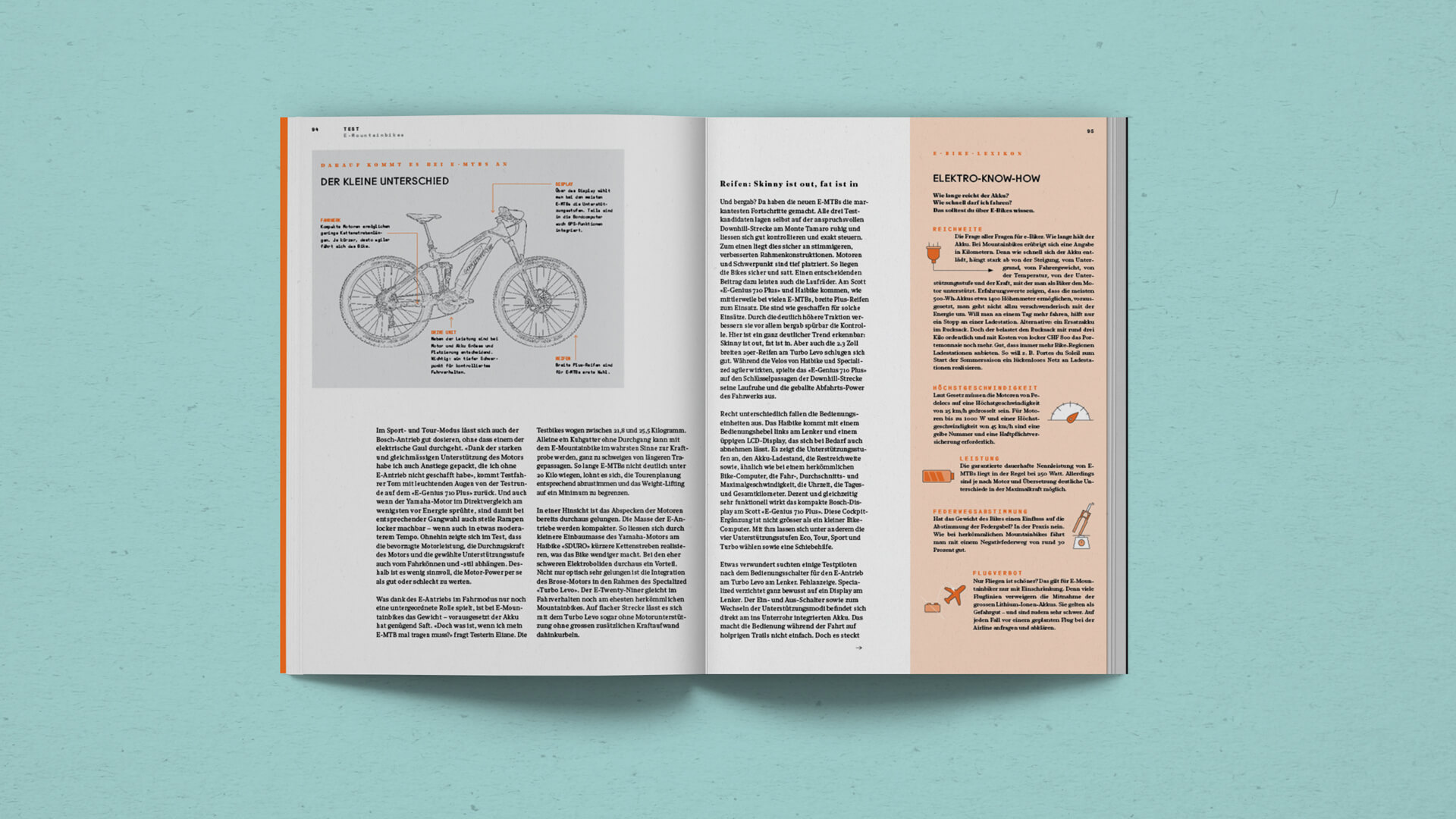 Knowledge Spread with informative Icons in the Outdoor Guide Magazine