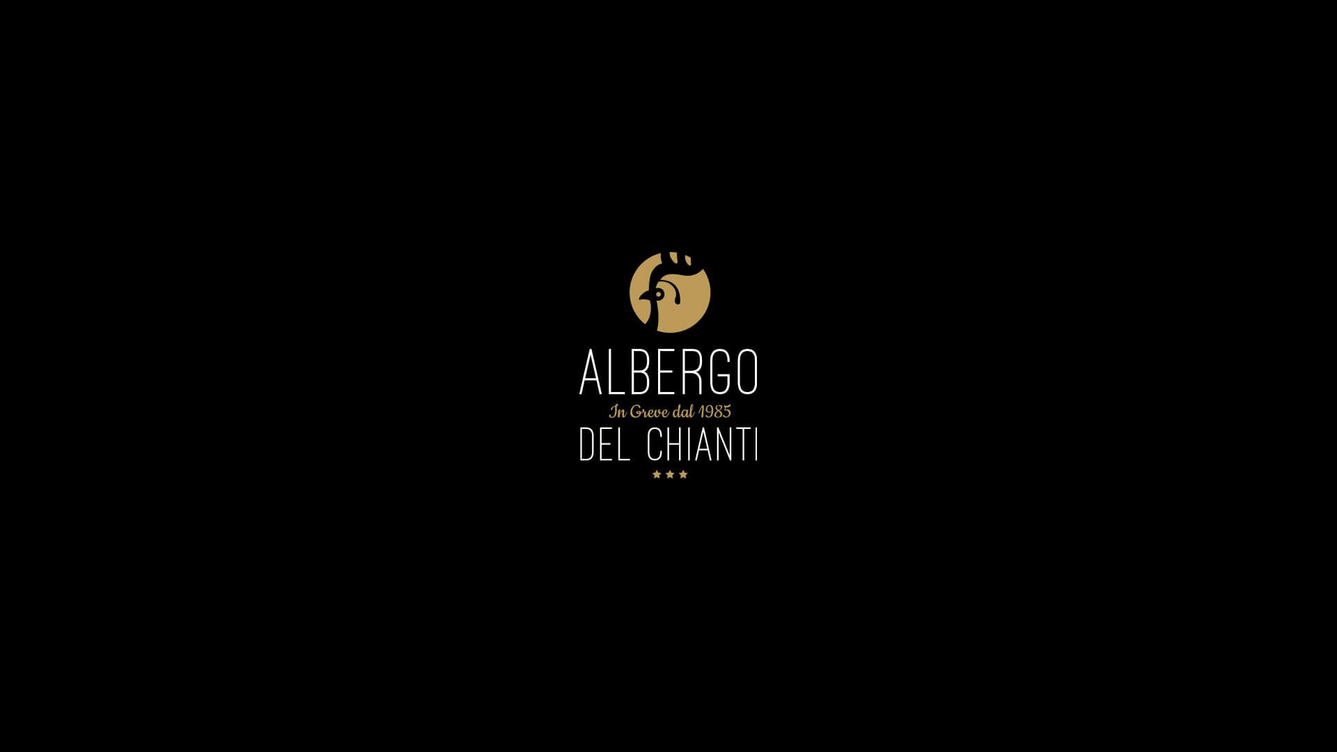 Albergo del Chianti Logo on a black Background