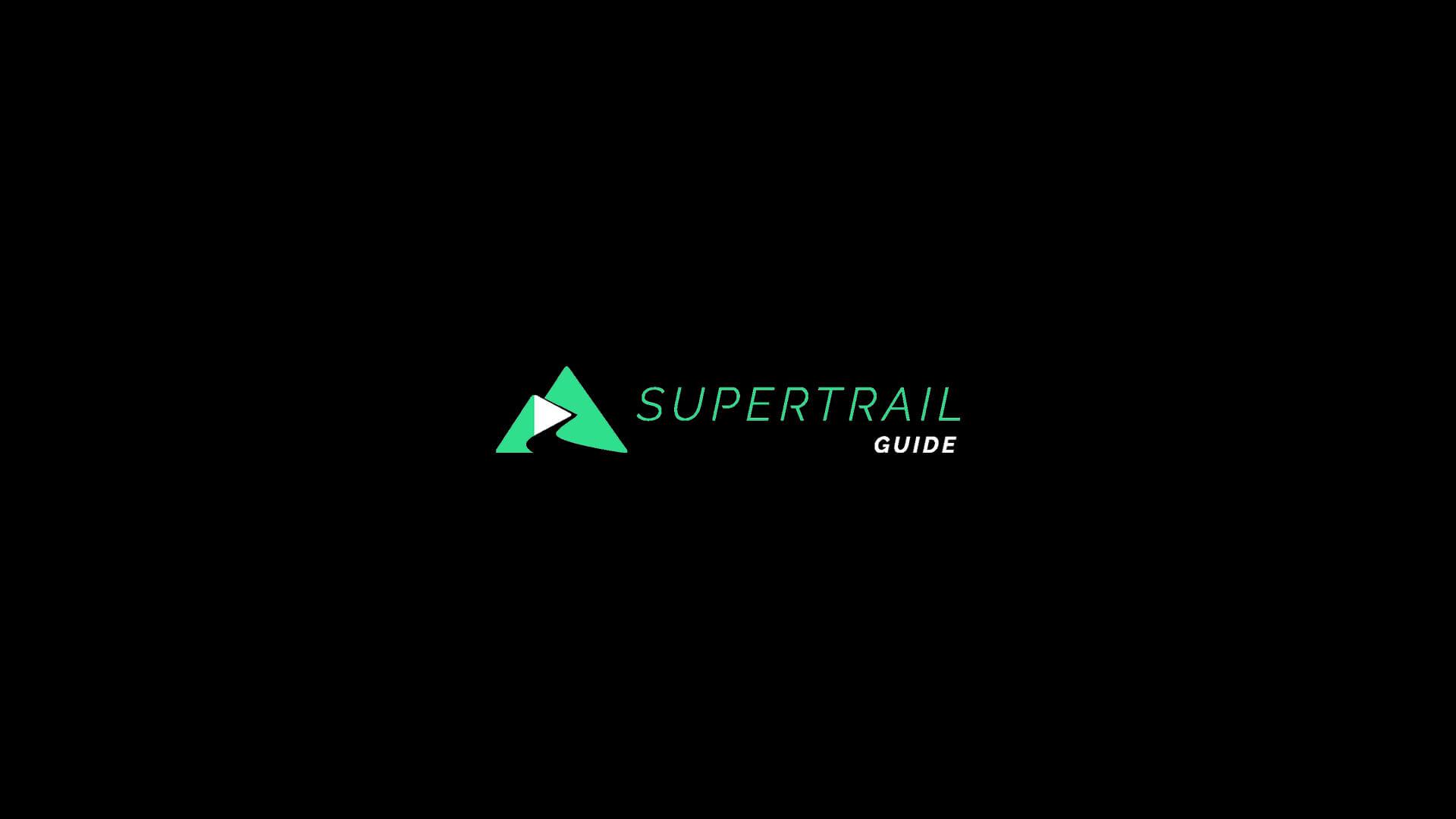 Supertrail Guide Logo on a Black Background