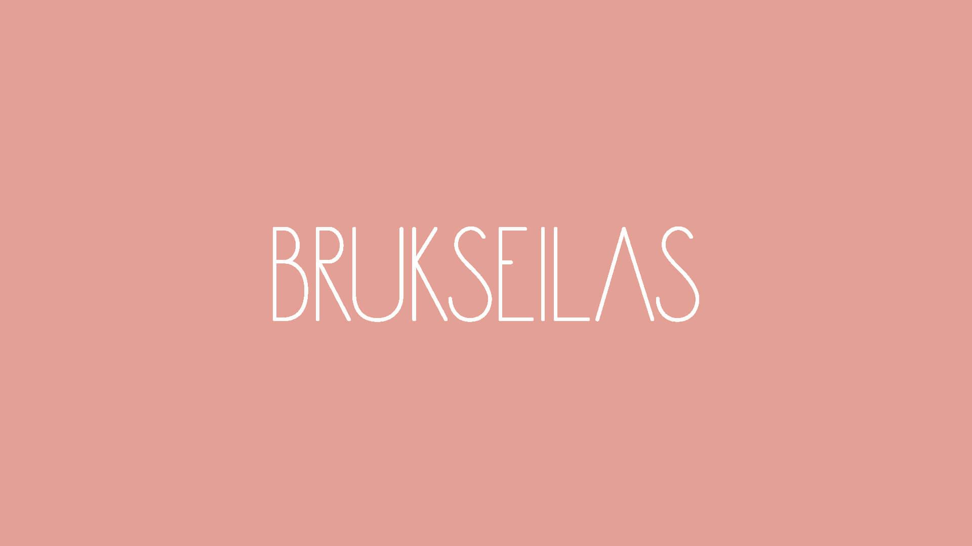 White Brukseilas Logo on a pink Background