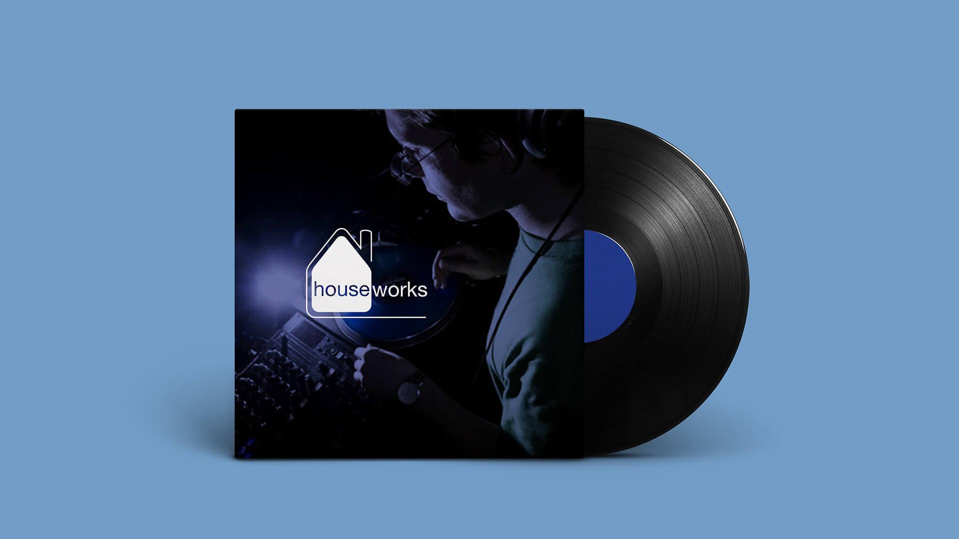 Houseworks Logo on a LP Sleeve