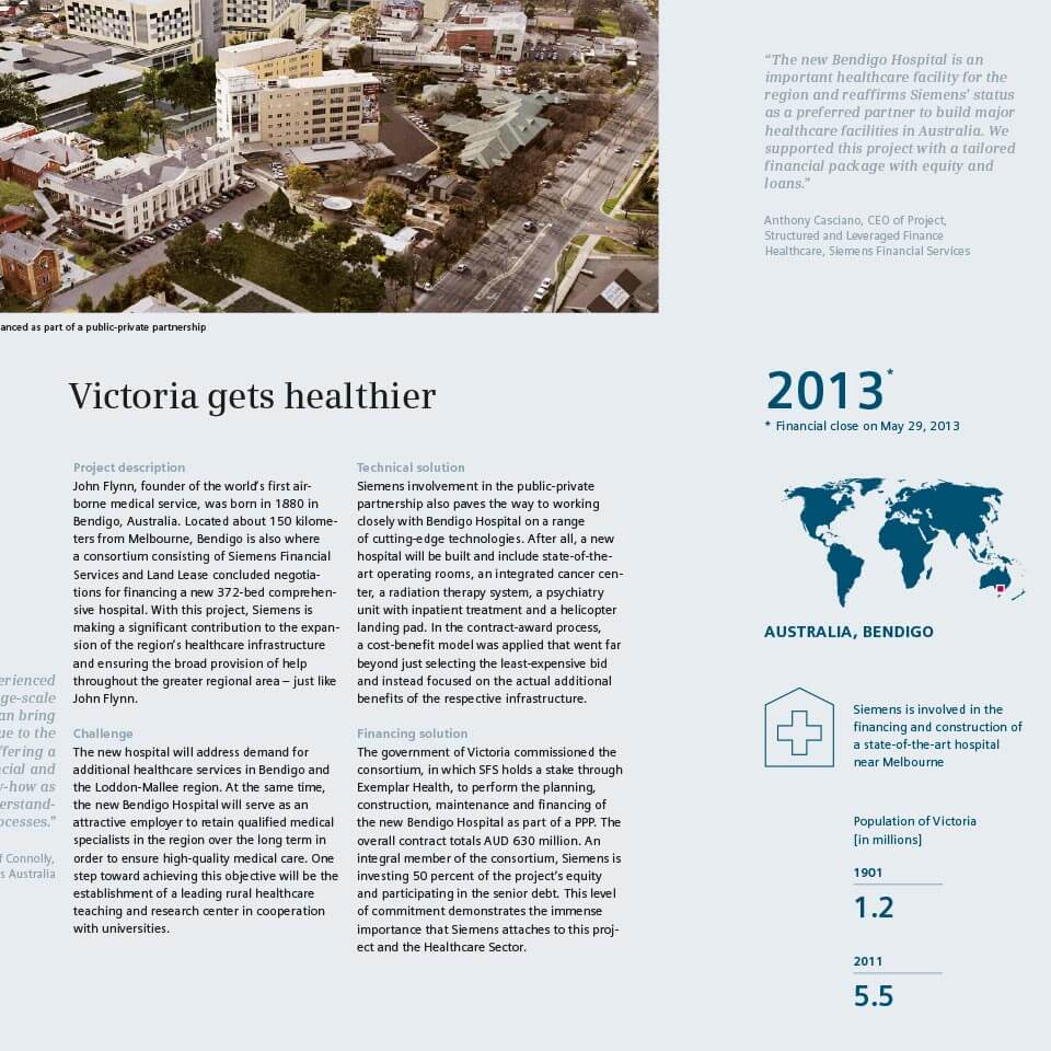 Closup of a Healthcare Case Study in the History Brochure for SFS