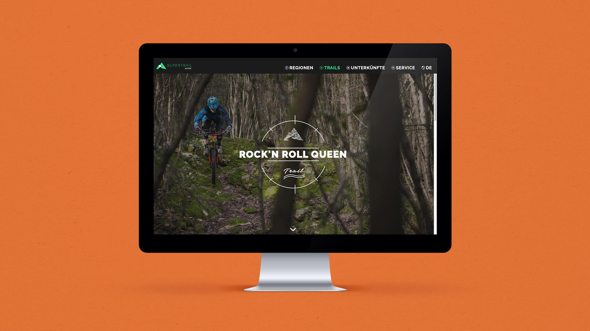 Mockup of a Trail Page on the Supertrail Guide Website