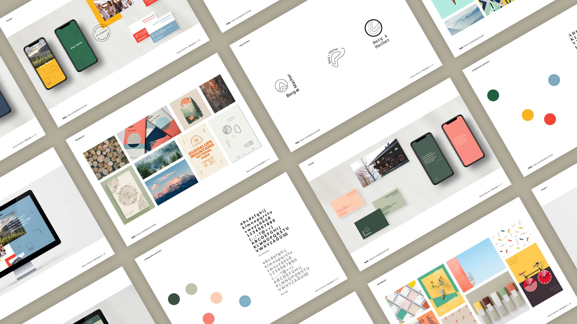 Overview Visual Concept Presentation for Berg & Macher