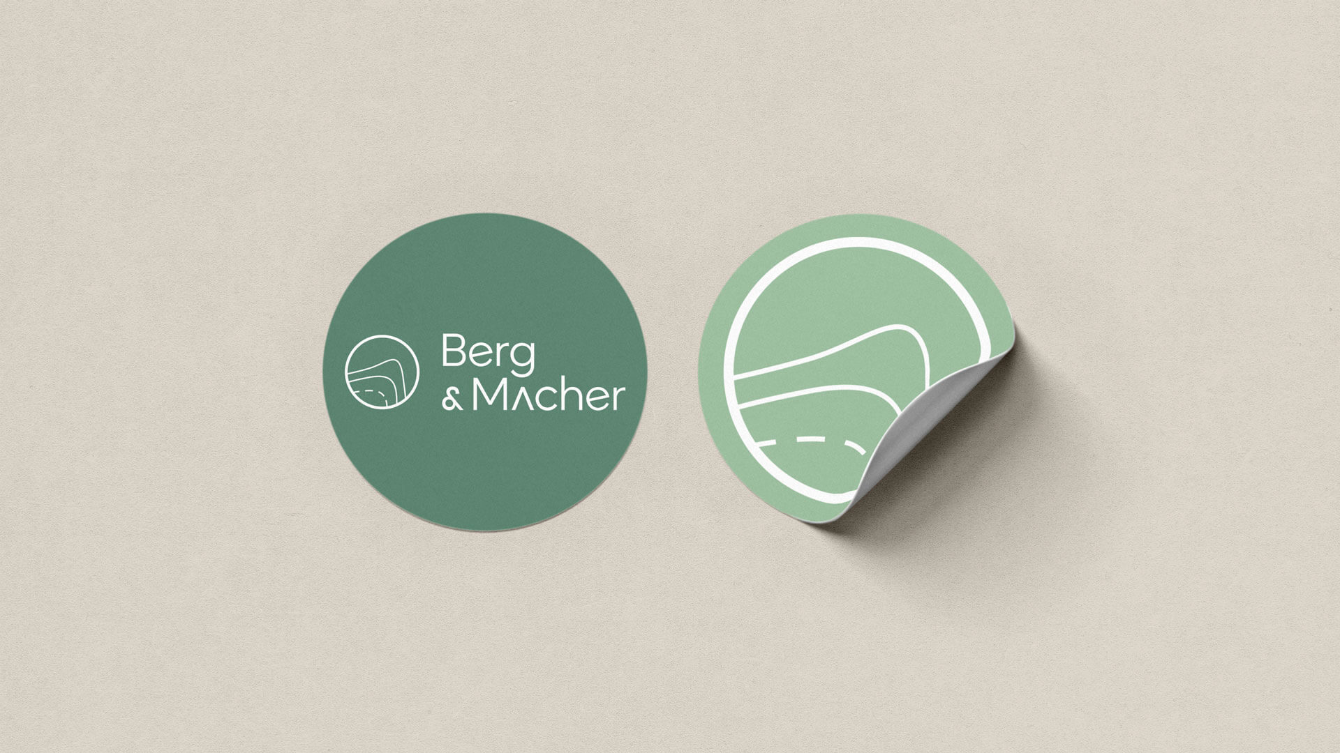 Sticker Mock-Up for Berg & Macher Logo